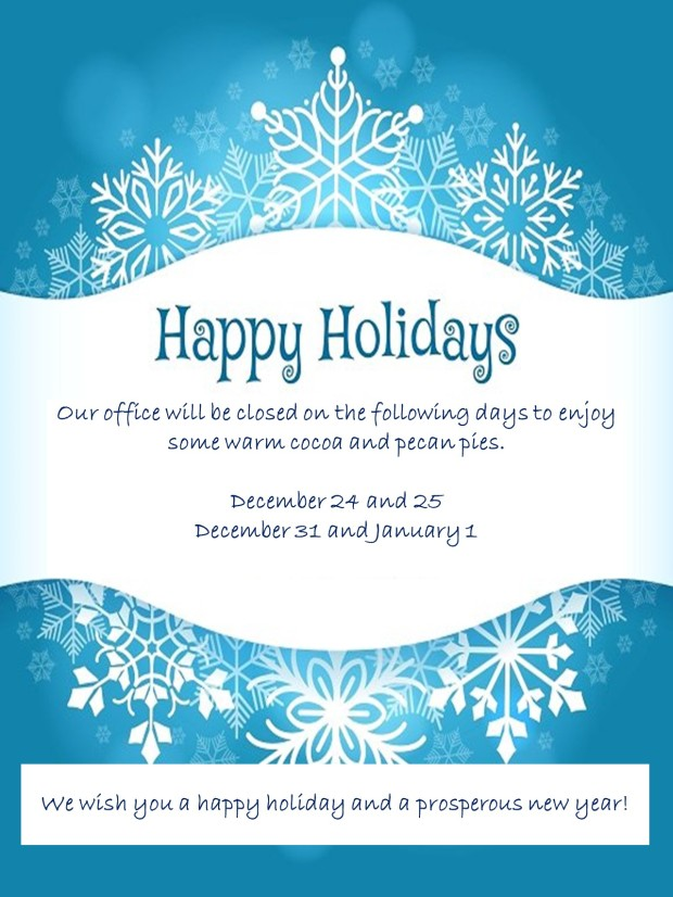 AG Holiday Office Hours