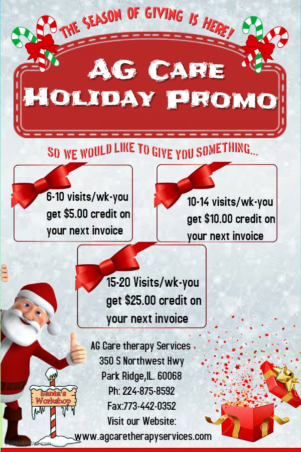AG CARE Holiday Promo 2018